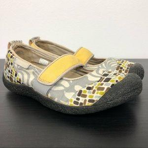 KEEN Gray Yellow Brown MaryJane Slip On Sneaker-8